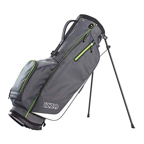 Izzo Ultra Lite Stand Bag, Grey/Lime