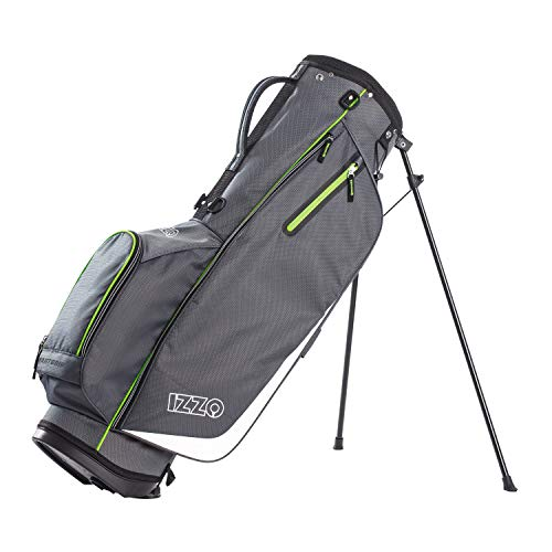 Izzo Ultra Lite Stand Bag, Grey/Lime