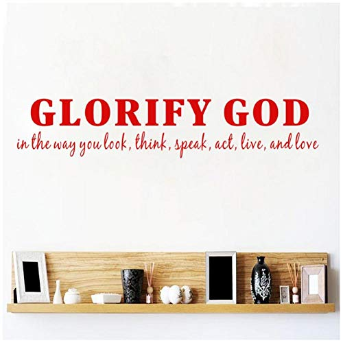 Hanzeze Glory to God in de manier waarop je kijkt naar christelijke citaten muur stickers woonkamer stickers huisdecoratie 11x56cm