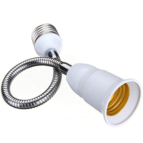 Light Bulb Socket Extender Flexible extenders, Adapter for Regular Home Light Bulb Medium E27 to E27/E26 Socket Converter