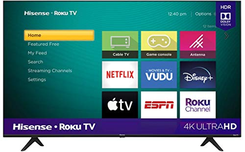 Hisense 50R6000GM Serie R6 50' 4K Uhd, Smart TV, Roku TV, Hdr10, Roku Search, (2020) (50')