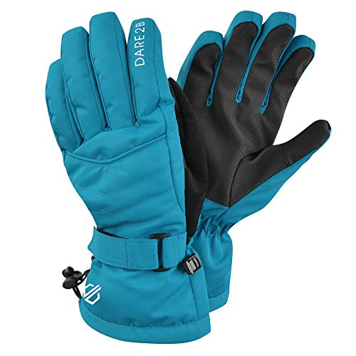 Dare 2b Damen Dignity Waterproof & Breathable Padded Ski & Snowboard Mitt with Gripped Palm and Thumb Handschuhe, Fresh Water Blue, m