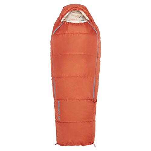Kelty Woobie 30 Degree Kids Sleeping Bag, Burnt Sienna, Short, Stuff Sack Included - Children's Sleeping Bag Ideal for Sleepovers, Camping,...