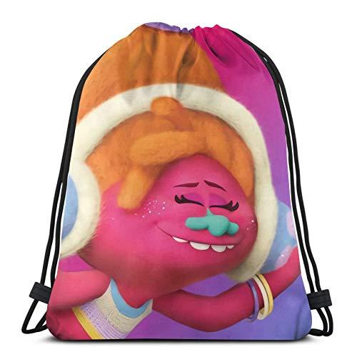 Trol-Ls - Bolsa de deporte con cordón para mujer, mochila de viaje escolar