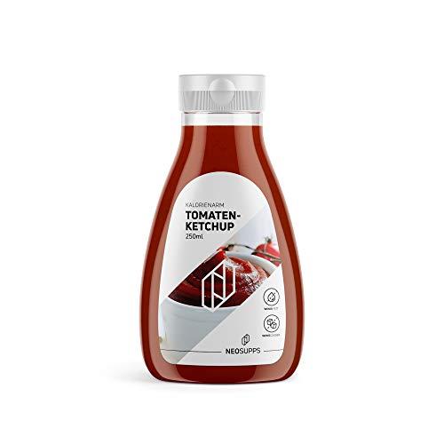 Kalorienarmer Tomaten Ketchup 250ml | Tomaten | gesunde Sauce | Kalorienarm | Zuckerfrei | Fettfrei | bewusste Ernährung | Abnehmen | sportlicher Lifestyle | Grillabend, Gewicht:250ml