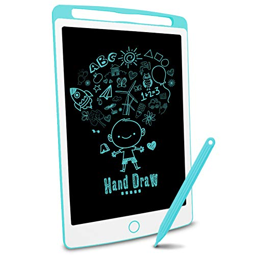 Richgv LCD Writing Tablet, 10 inches Electronic Graphic Tablet, Writing & Drawing Doodle Board with Memory Lock for Age 3+, Blue