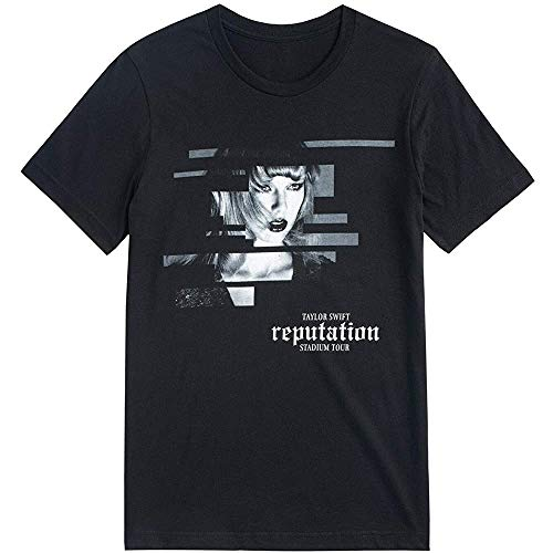 New Taylor Swift Official Reputation Tour Black Short Sleeve Shirt L