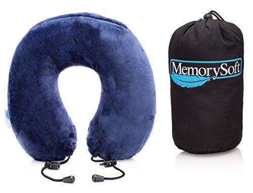 MemorySoft Luxus Reisekissen/Nackenkissen Kleinere Modell Gut für Kinder- Extrem Weiches & Bequemes Memory Foam Nackenstützkissen/Nackenhörnchen