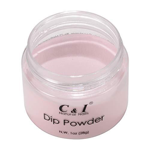 C & I Dip Powder Tauchen Pulver, Farbe # 18 Erröten, Gelnägel Effekt, Pulver für Nagellack, Lila Farbsystem, 1 oz / 28 g