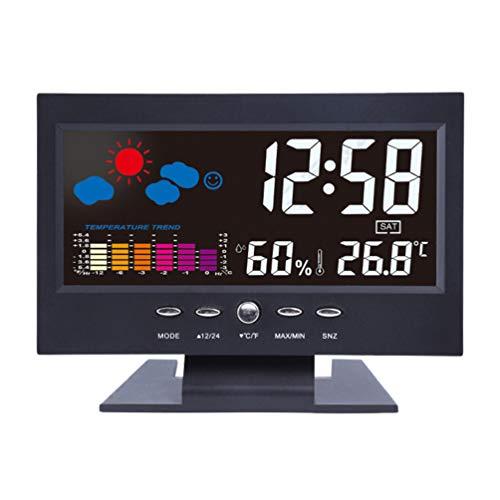 Garneck Estación Meteorológica Reloj de Visualización de Humedad Reloj de Carga USB...