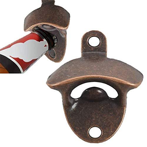Dasing - Juego de 10 abrebotellas para abrelatas de cerveza rústica, diseño vintage con tornillos de montaje para barras de cocina y café