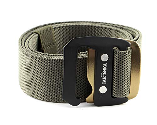 Tatonka Stretchbelt 38mm Ceinture Mixte-Adulte, Gris/Olive, 125 x 3,8 cm