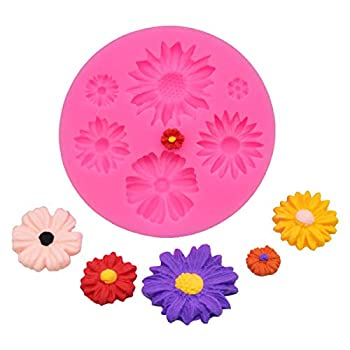 Daisy Silicone Mold DIY Crystal Jelly Shots Ice Cream Desserts Candy Chocolate Fondant Mold Pudding Cupcake Cake Topper Decoration Gum Paste