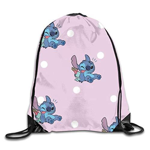 Etryrt Funny Stitch Mochila de Cuerda Bolsas de Gimnasia Print Shoulder Bags Sackpack Sport Gym Backpack Storage Bag