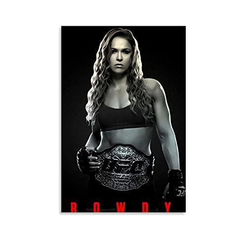 LINFENGAS Sport Poster Boksen UFC MMA Ronda Rousey Poster Decoratief Schilderij Canvas Muur Art Woonkamer Posters…