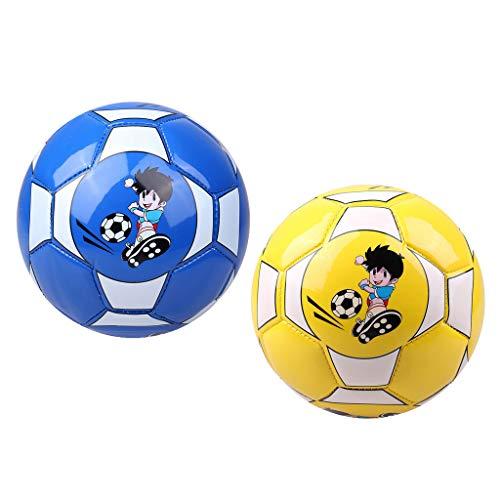 freneci 2X Pelota de Fútbol Suave de Dibujos Animados Lindo para Niños Pelota de Juguete de Regalo con de Fútbol