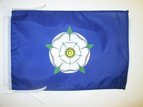 AZ FLAG Flagge GRAFSCHAFT Yorkshire ALT 45x30cm mit Kordel - Yorkshire Fahne 30 x 45 cm - flaggen Top Qualität