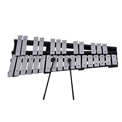 Kalaok Plegable 30 Nota Glockenspiel Xilófono Marco de Madera Barras de Aluminio Instrumento Musical Percusión Regalo con Bolsa de Transporte