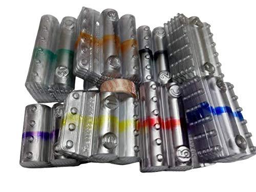 Kit 200 blister per monete euro cilindri portamonete in PVC tagli assortiti (25 pezzi per taglio moneta euro) + 1 nastro adesivo trasparente omaggio