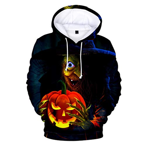 Kekebest 2019 Newest Arrival Autumn Winter Blouse for Men,Top Shirts Casual Scary Halloween Lover 3D Print Party Long Sleeve Hoodie Official Up Slim Fit Standard Flamingos Wrangler Plus Size