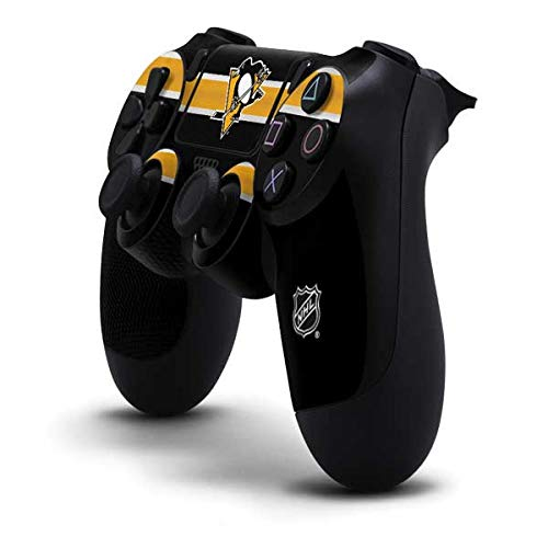 Skinit Decal Gaming Skin for PS4 Controller - Officially Licensed NHL Pittsburgh Penguins Jersey Design