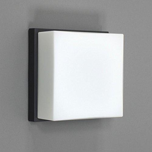 BEGA 33034 (3034) Decken- und Wandleuchte quadratisch grafit 1xE27 AGL max 75W ohne Leuchtmittel