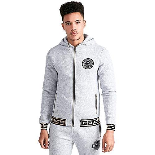Glorious Gangsta Shona top con cappuccio e zip | grigio mélange X.S Grey