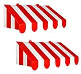 Beistle , 2 Piece 3-D Awning Wall Decorations, 24.75' x 8.75' (Red/White)