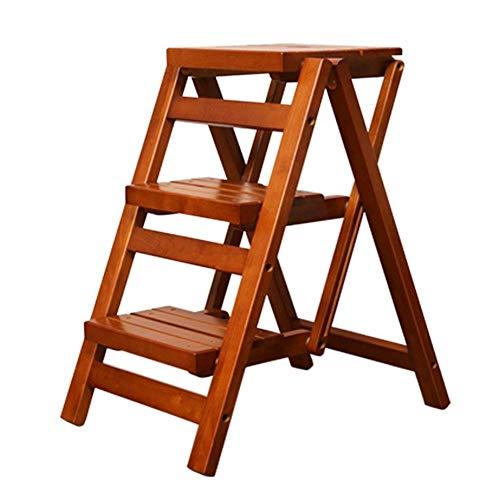 YIQIFEI Multifunktions-Step-Home-Massivholz-Klappstuhl IKEA für Kinder mit doppeltem Verwendungszweck