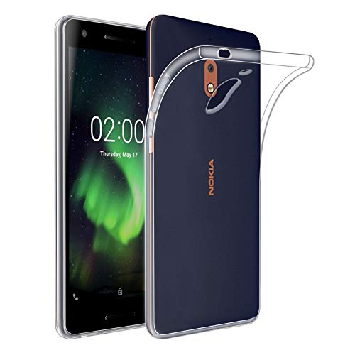 32nd Clear Gel Series - Gel Transparente in TPU Silicone Clear Case Cover per Nokia 2.1 (2018), Custodia Ultra Slim Cristallo Gel - Transparente
