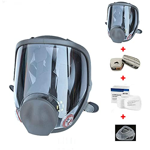 15in 1 Reusable Full Face Respirator Widely Used in Paint Sprayer,Woodworking,Welding,Dust Protector and Other Work Protection