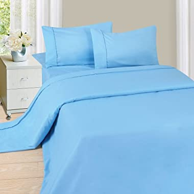 Lavish Home 1200 3-Piece Sheet Set, Twin, Blue