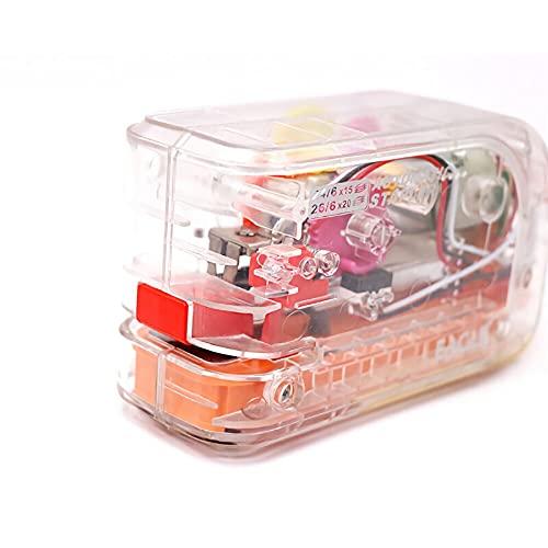 Grapadora eléctrica automática de alta resistencia, doble fuente de alimentación transparente de...