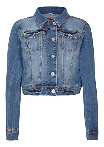 s.Oliver Mädchen 73.903.51.5026 Jacke, Blau (Blue Denim Stretch 55z7), 140 (Herstellergröße: S)