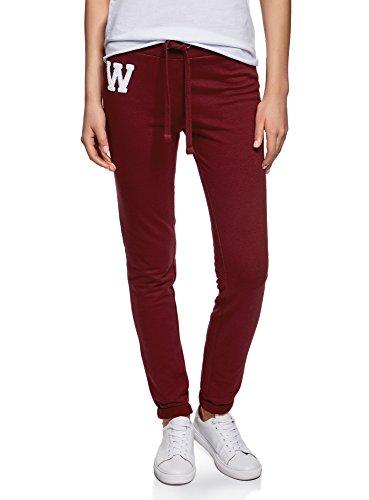 oodji Ultra Mujer Pantalones de Punto Deportivos con Cordones Decorativos