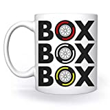 Box Box Box Tyre Compound Biance Tazza White Mug Cup