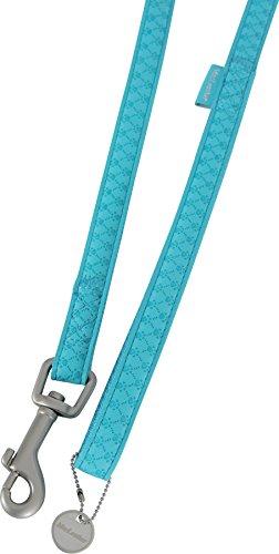 Zolux Mac Leather Laisse pour Chien Turquoise 25 mm