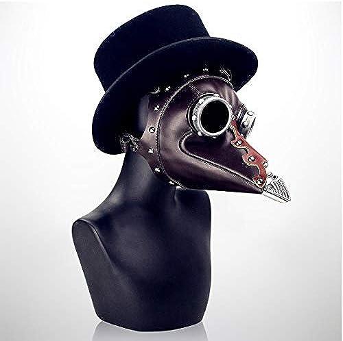 Lindan shangmao Metallic Style Lange Nase Vogel Maske Schnabel Mittelalter Steampunk Halloween Party Maskerade Kostüm Requisiten Braun für Erwachsene