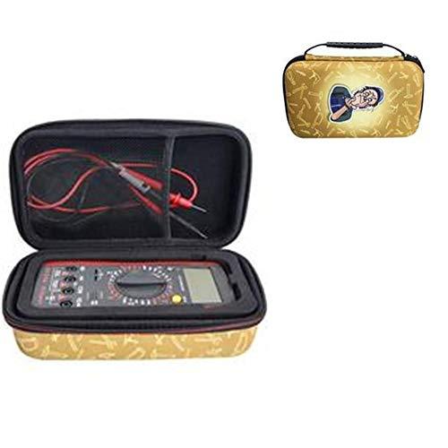 Caja de herramientas de almacenamiento duro para Fluke 117/115/116 / 87V / 88V / 101, organizador de caja de almacenamiento multímetro a prueba de golpes para Crenova MS8233D, Extech EX330 y más