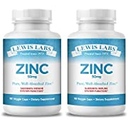 Zinc Supplement 50mg   Pure Zinc Citrate Vitamins for Adults for Immune Support, Metabolism, Acne, Skin Health & Energy   Powerful Herbal Antioxidant Supplement for Men & Women   90 Veggie Capsules