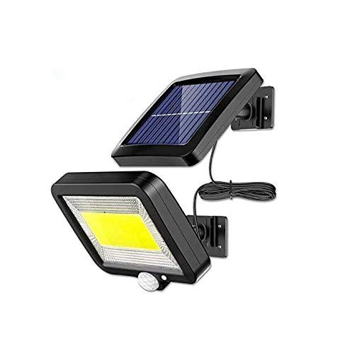 Luce Solare LED Esterno, ENJOY Lampada Solare Con Sensore Di Movimento Cavo 16 Piedi 100 LED Luce Da Esterno, 270° Di Illuminazione Con 3 Modalità, Impermeabile IP65 Per Cortile, Giardino