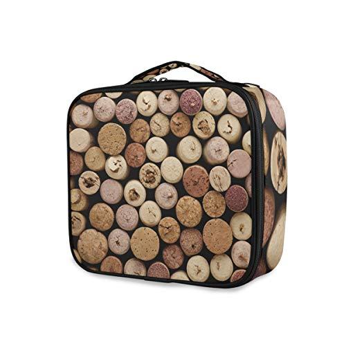 LUPINZ Trousse de maquillage rétro en liège pour le vin