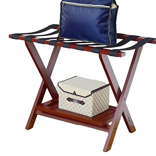 Best Price GDXLJ Folding Luggage Rack Hotel Folding Luggage Racks Bedroom Suitcase Support with Shoe...