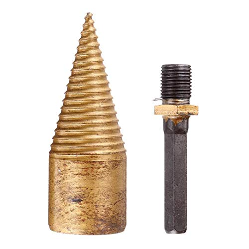 Affordable 32/42Mm Titanium Coated Firewood Splitter Drill Bit HSS Hexagon Square Round Shank Wood D...