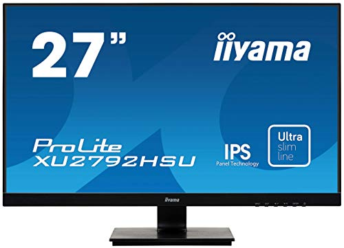 iiyama ProLite XU2792HSU-B1 68,6cm (27 Zoll) IPS LED-Monitor Full-HD (VGA, HDMI, DisplayPort, USB3.0, Ultra Slim Line) schwarz