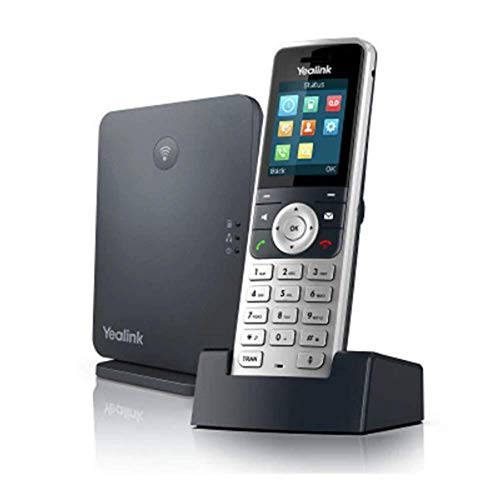 Yealink W53P Cordless DECT IP Phone and Base Station, 1.8-Inch Color Display. 10/100 Ethernet, 802.3af PoE, Power Adapter Included