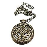 LAOJUNLU Reloj de bolsillo de cobre puro, estilo 38, imitación de bronce antiguo, colección de solitario estilo chino tradicional