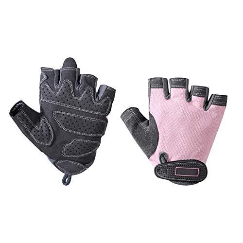 Guantes deportivos de fitness, muñequeras de medio dedo antideslizantes para mujeres, guantes finos para entrenar yoga