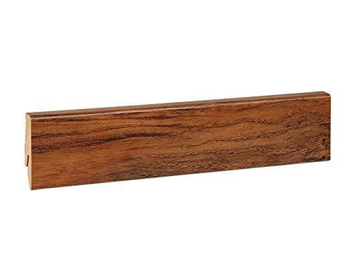 KGM Sockelleiste Mega – foliert Eiche rustikal MDF Fußbodenleiste – Maße: 2500 x 17 x 58 mm – 1 Stück