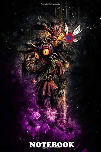 Notebook: Majoras Mask Skull Kid , Journal for Writing, College Ruled Size 6' x 9', 110 Pages